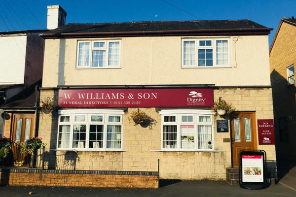 W Williams & Sons Funeral Directors in Little Sutton, Ellesmere Port, Cheshire.