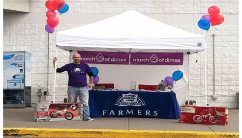 My agency partners with K-Mart for a March of Dimes fundraiser, June 2013.