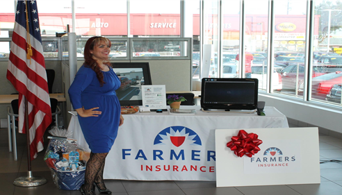 "Esme at the booth - 3rd Annual ""Driving for Change"" Veteran's Day 2014"