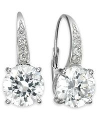 Image of Giani Bernini Cubic Zirconia Leverback Earrings in 18k Gold over Sterling Silver, Created for Macy's
