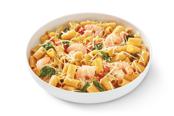 Cauliflower Rigatoni Fresca with Shrimp