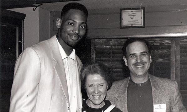 Ruth and Dennis at the old forum with former Laker, Robert Horry
