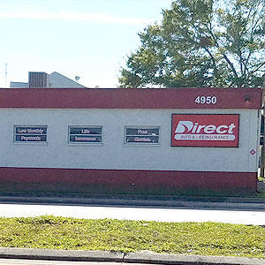 Front of Direct Auto store at 4950 Park Boulevard, Pinellas Park