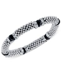 Image of 2028 Stone and Crystal Metallic Beaded Stretch Bracelet, a Macy's Exclusive Style