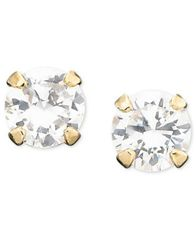 Image of Children's 14k Gold Cubic Zirconia Stud