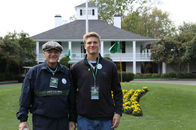 Father and son at Augusta National Golf Course