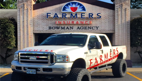 The Bowman Agency truck. Give us a wave if you see it around town!