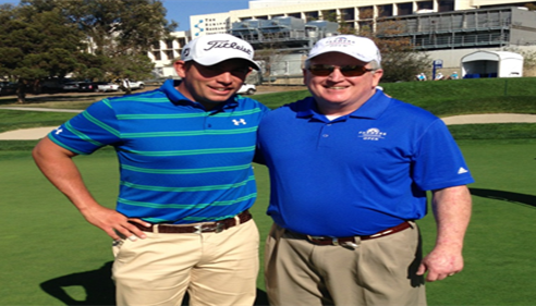 Scott Stallings & Larry partnered,Farmers® Insurance Open - Stallings won! 2014