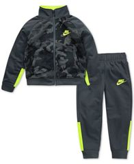 Image of Nike Little Boys 2-Pc. Camo Colorblocked Track Jacket & Pants Set
