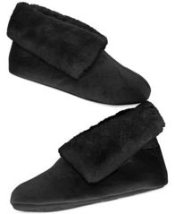 Image of Charter Club Microvelour Bootie Slipper with Memory Foam, Created for Macy's