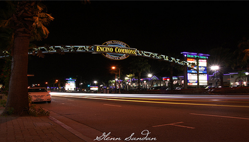 Encino California at night