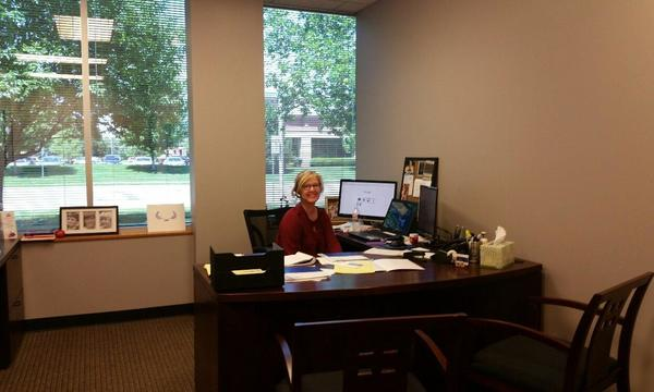 Matt North Agency staff member Kerrie Boylan at her desk.