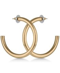 Image of GUESS Tubular Open Hoop Earrings