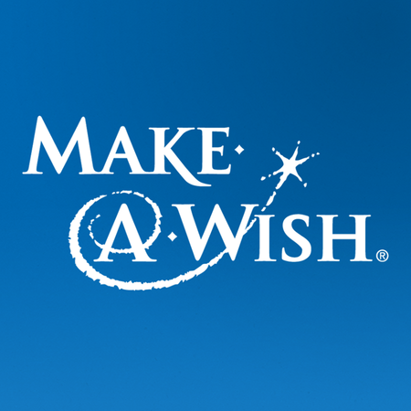 A logo for Make a Wish Foundation