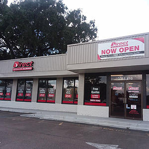 Front of Direct Auto store at 3315 SW Archer Rd, Gainesville