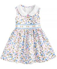 Image of Bonnie Baby Floral-Print Smocked Dress, Baby Girls