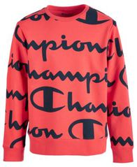 Image of Champion Big Boys Script-Print Sweatshirt