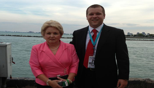 Owner Matthew Brown and his mother Sandra Brown in Chicago