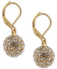 Image of Charter Club Gold-Tone Pavé Ball Drop Earrings, Created for Macy's