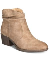 Image of White Mountain Uptown Block-Heel Slip-On Ankle Booties, Created for Macy's