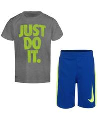 Image of Nike 2-Pc. Graphic-Print T-Shirt & Shorts Set, Little Boys