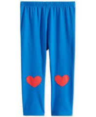 Image of First Impressions Baby Girls Heart-Patch Leggings, Created for Macy's