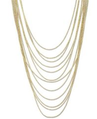 Image of 2028 Gold-Tone Multi-Row Chain Necklace, a Macy's Exclusive Style
