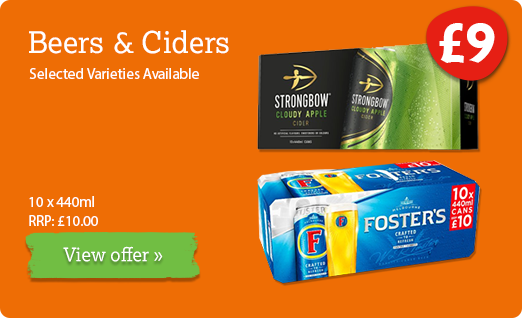 Beer & cider offer available until 16th June