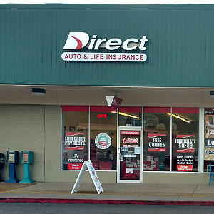 Front of Direct Auto store at 5031 Cottage Hill Road, Mobile