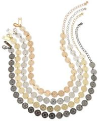 Image of I.N.C. Multi-Tone 4-Pc. Set Beaded Choker Necklaces, Created for Macy's