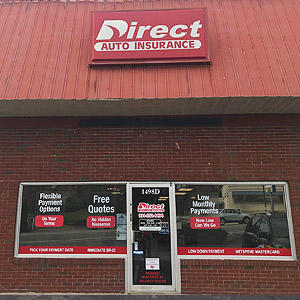 Front of Direct Auto store at 1498 Madison Street, Clarksville