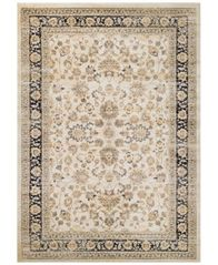 "Image of CLOSEOUT! Couristan HARAZ HAR1443 Ivory/Black 9'2"" x 12'5"" Area Rug"
