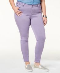 Image of Celebrity Pink Trendy Plus Size Colored Skinny Jeans