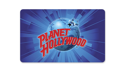 Purchase Planet Hollywood Gift Cards for friends and family