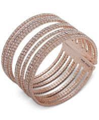 Image of Anne Klein Pavé Multi-Row Cuff Bracelet