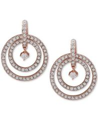 Image of Anne Klein Pavé Orbital Drop Earrings