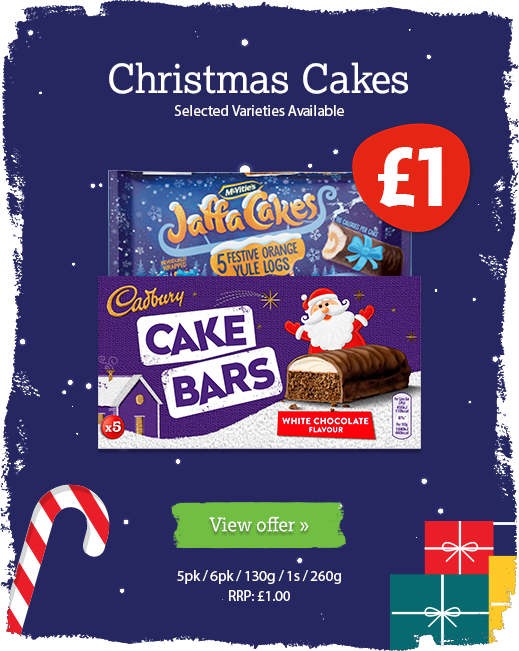 Christmas cake offer available until 31st December