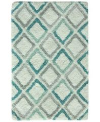 "Image of Bacova Dante Cotton 20"" x 30"" Diamond-Print Accent Rug"