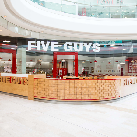 Five Guys Burgers and Fries Restaurant Westfield London White City Shepherd's Bush