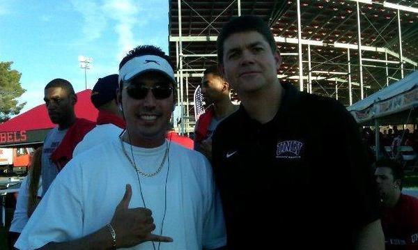 Me and former UNLV head coach Dave Rice