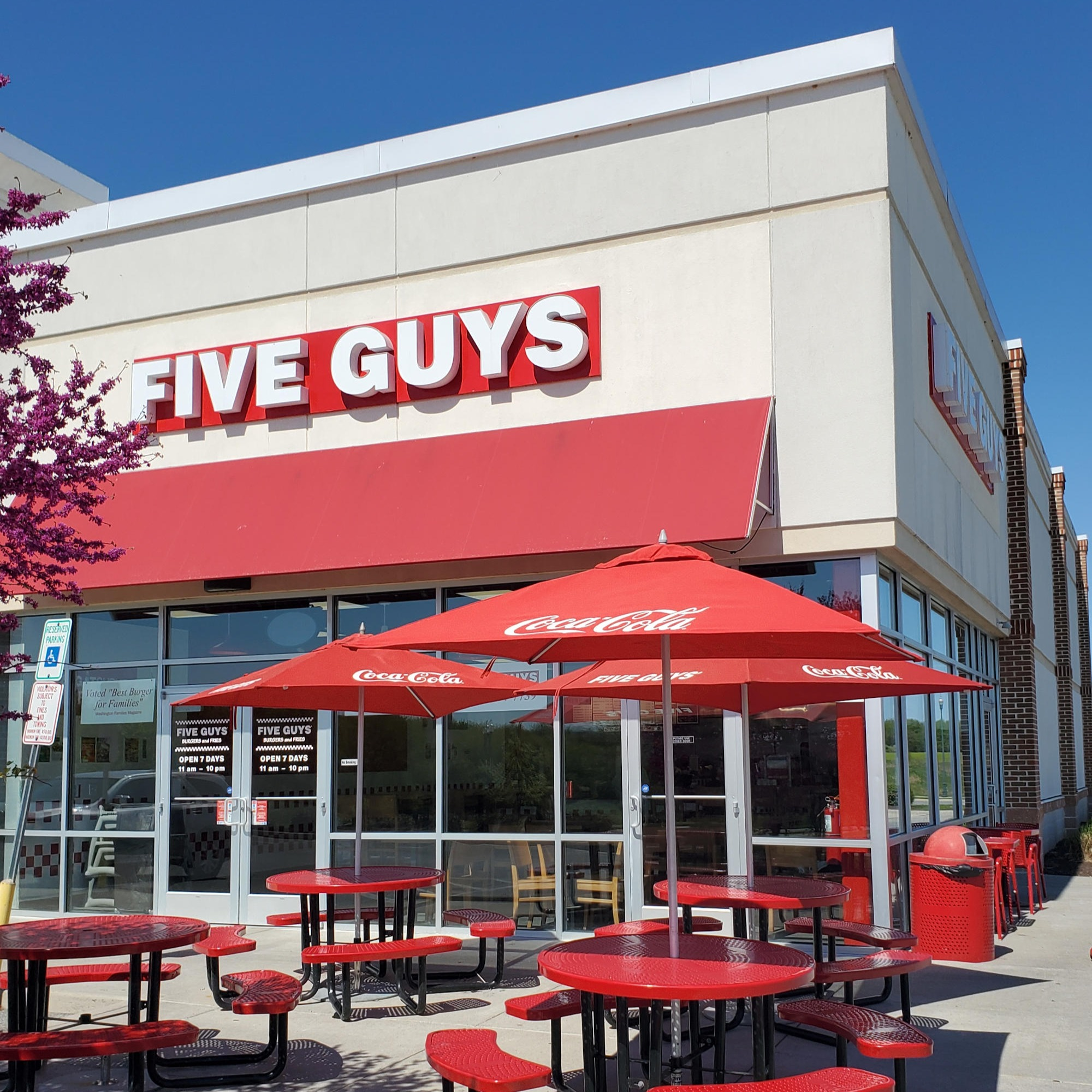 Five Guys at 38 Joshua M. Freeman Blvd. in Ranson, WV.