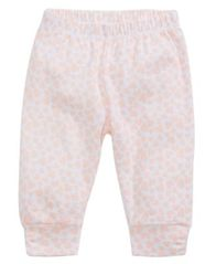 Image of First Impressions Heart-Print Ruched Cotton Jogger Pants, Baby Girls, Created for Macy's