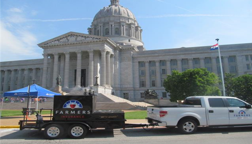 Each year I am part of the Farmers® team during our Day at the Missouri Capitol.