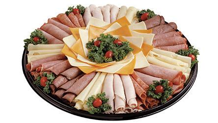 Deli Tray with meats and vegetables.