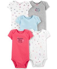 Image of Carter's Baby Girls 5-Pk. Cotton Bodysuits