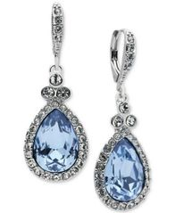 Image of Givenchy Pavé & Colored Stone Drop Earrings