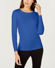 Image of Alfani Long-Sleeve Ruched Top, Created for Macy's
