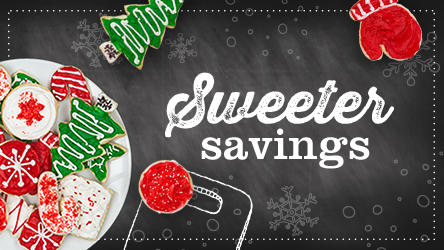 Holiday cookies on a plate - Sweeter Savings
