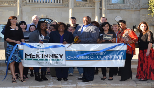 Ribbon cutting ceremony at my new offices in McKinney, Texas.