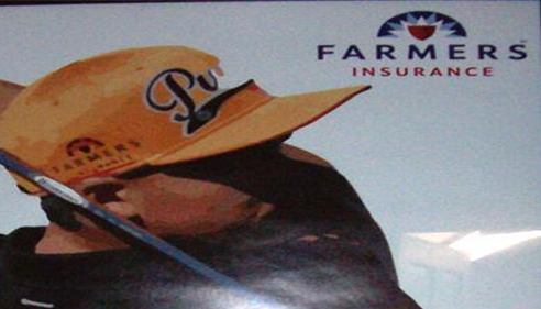 Farmers branded sign.